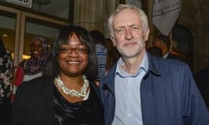 Double standards … Diane Abbott and Jeremy Corbyn.