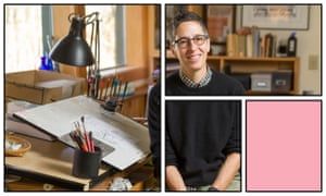 Alison Bechdel in her West Bolton, Vermont, studio. 'I don't feel I deserve to exist unless I'm working.'