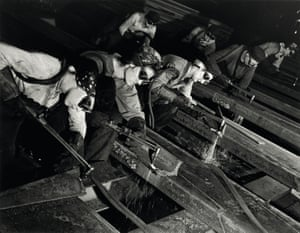 Beveling Armor Plate for Tanks, Gary, Indiana 1943Margaret Bourke-White was the first female documentary photographer to be allowed in a combat zone, and the first western journalist to photograph Soviet industry under the five-year plan