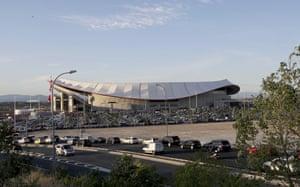 Fans arrive at the Wanda Metropolitano on Saturday.