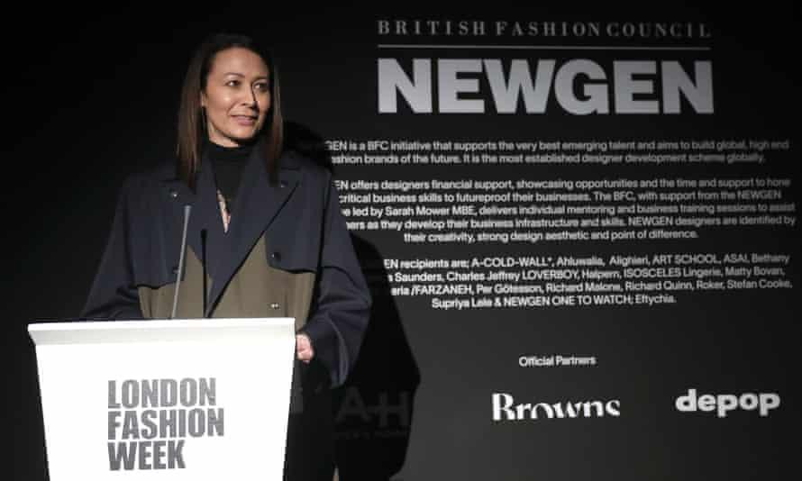 The British Fashion Council chief executive, Caroline Rush