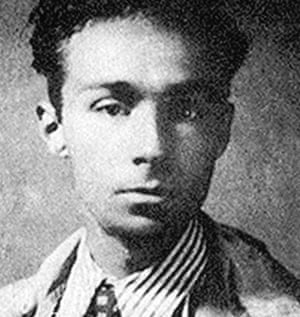 Primo Levi in 1940 … he was arrested in 1943 and sent to Auschwitz in 1944.