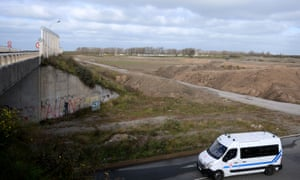 A view of the site formerly known as the 'Jungle' refugee camp