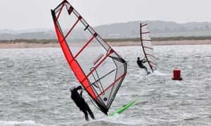 Windsurfing at Wells next the Sea.