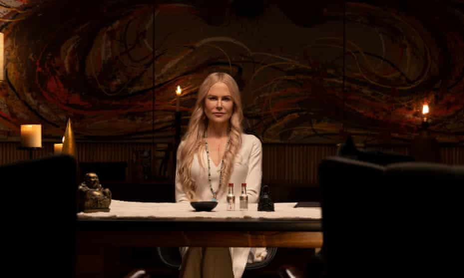 The role of guru Masha allows Kidman to make the most of her almost emotionless mask-like, very smooth, otherworldly face and intelligent, knowing eyes.