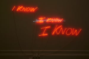 I know, I know, I know, 2002 by Tracey Emin