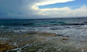 Looking over Jervis Bay marine park towards the open ocean.