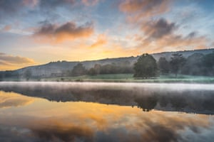 Jude Gadd captures the early morning mist rising from a lake in the English countryside