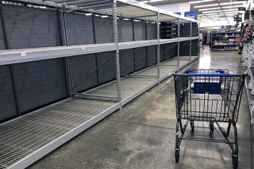 Across the US, Walmarts have run out of toilet paper.