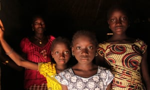 A woman and her daughters in the village of Cambadju in Bafata region, Guinea-Bissau, which has been on the UN's list of least developed countries since 1981