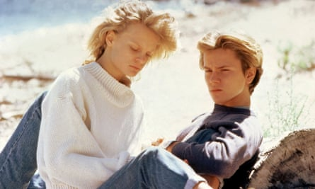 With Martha Plimpton in Running On Empty, 1988.