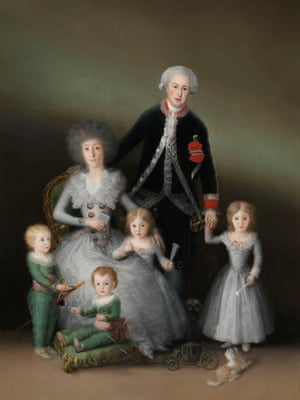 The Duke and Duchess of Osuna and their Children, 1788 by the 'incomparable' Goya at the Royal Academy.