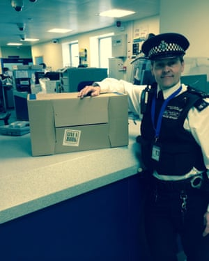 Steve Whitmore delivering books to one of the Custody Suites
