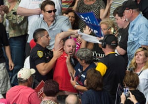 Ohio, USA Police remove a protester