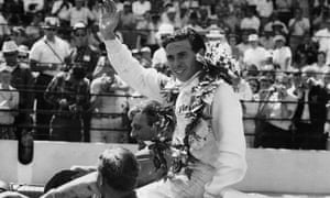 Jim Clark after winning the Indy 500.