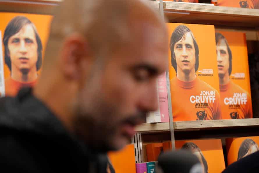 Pep Guardiola during the launch of Johan Cruyff's My Turn.