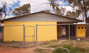 A community centre at Trucky's, an Aboriginal town camp on the outskirts of Alice Springs, Australia. It has been refurbished, but there is no funding to operate it, says Walter Shaw, chief executive of Tangentyere council.