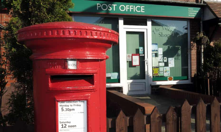 The village sub-post office in Grappenhall, Warrington, Cheshire. More than 1,000 sub-postmasters say they have been wrongly accused by the Post Office.