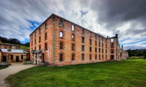 The Penitentiary at Port Arthur built 1842-1845, originally a flour mill and granary, ruined by fire in 1897. Port Arthur Historic Site, Tasmania, Australia.