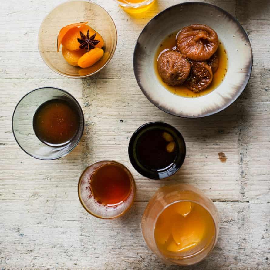 Golden nectar: three dried-fruit drinks.
