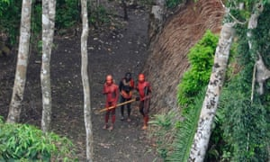 Indigenous people from a remote Amazonian tribe in Brazil