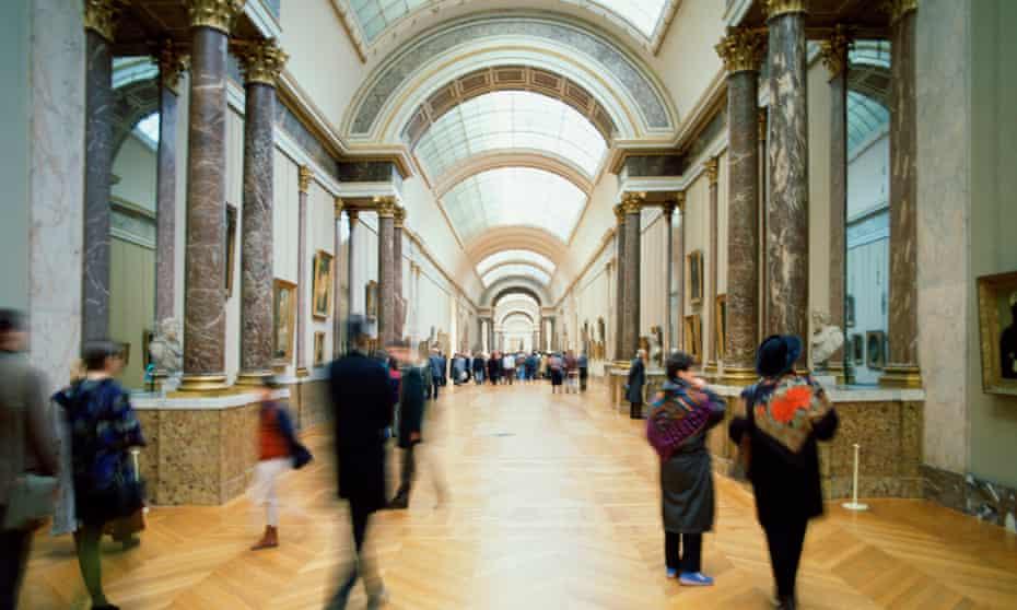 Interior of the Louvre, Paris