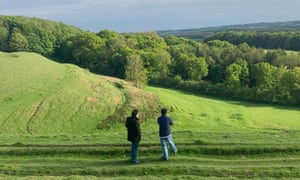 Will Cohu and son on their Langton walk