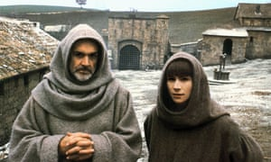 Sean Connery, left, and Christian Slater in Jean-Jacques Annaud's 1986 film adaptation of Eco's novel The Name of the Rose.