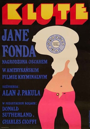 Klute film poster by Polish graphic designer Jan Mlodozeniec, 1973. Available from Projekt 26