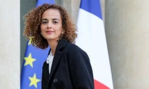 Leïla Slimani arriving at the Élysée Palace.