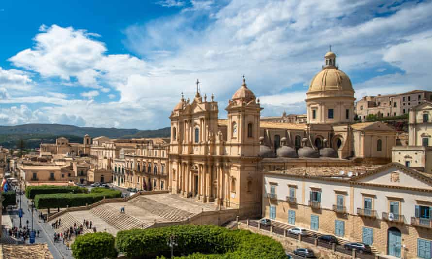 Noto old town and cathedral, Sicily.