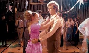 Jon Heder and Tina Majorino dancing awkwardly in Napoleon Dynamite.