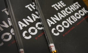 Copies of The Anarchist Cookbook by William Powell.