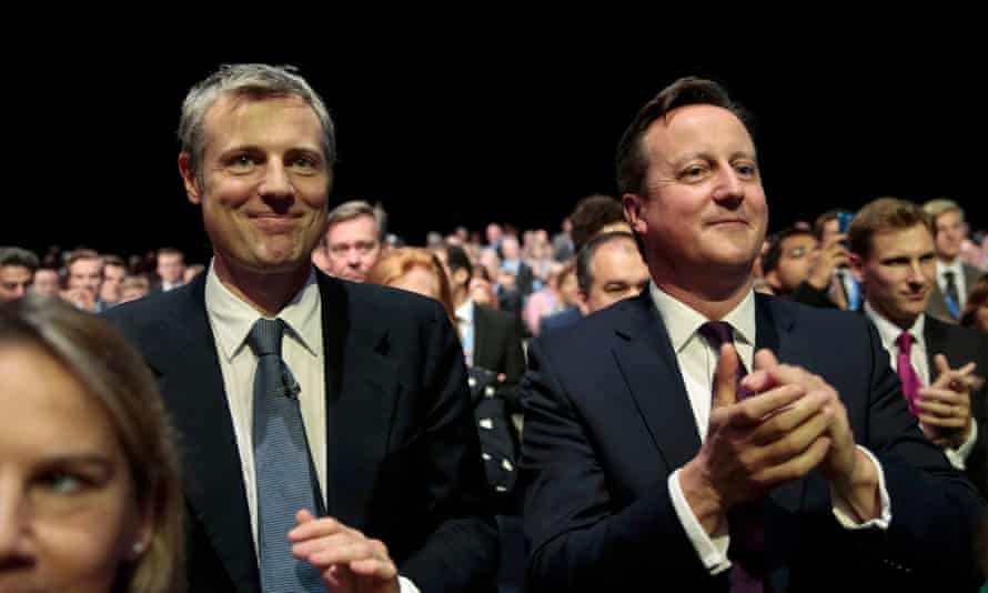 The Conservative candidate for the London mayoral election, Zac Goldsmith (left), with the prime minister.