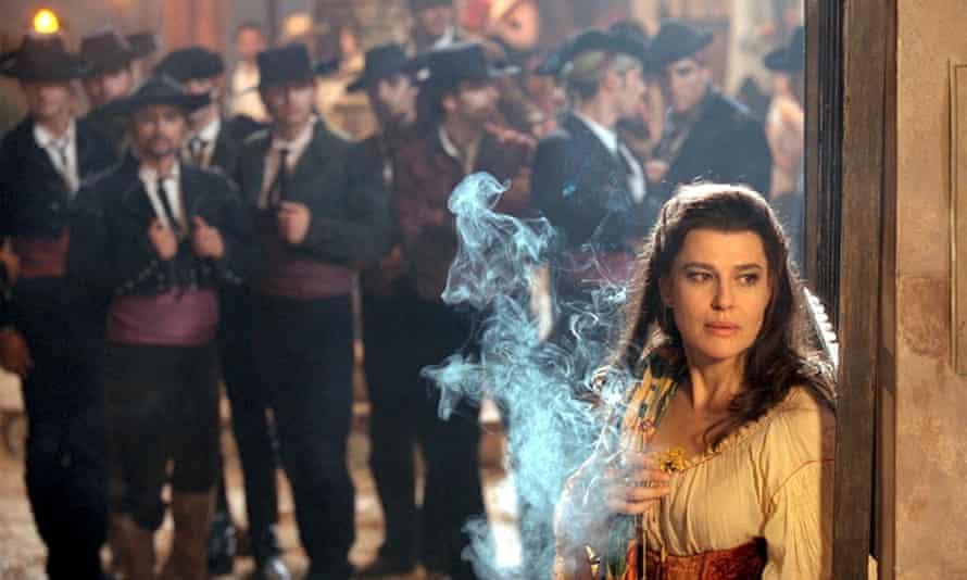 Fanny Ardant as Maria Callas in Zeffirelli's film Callas Forever, 2002.