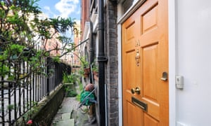 The private front door entrance to the former council flat in Siddons Court that has changed hands for £1.2m.