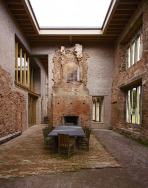 The dining room of the restored Astley Castle, Warwickshire.