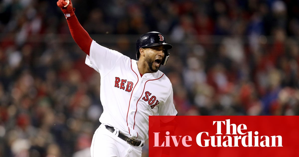 e60a15af1 World Series Game 1  Boston Red Sox 8-4 Los Angeles Dodgers – as it  happened!