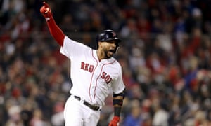 Eduardo Nunez smashed a pinch hit three-run home run to buy his Boston Red Sox breathing room in their Game 1 World Series victory over the Los Angeles Dodgers.