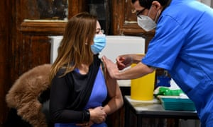 The UK administered 873,784 vaccinations on Saturday.