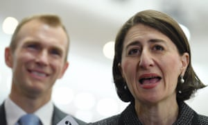 The NSW premier, Gladys Berejiklian, with the minister for planning and public spaces, Rob Stokes
