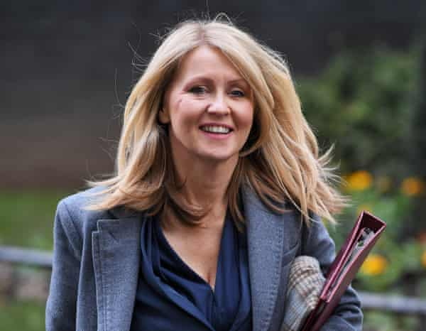 Esther McVey, Housing Minister, leaves N0.10 Downing Street after attending a Cabinet Meeting. Politicians in Westminster, London, UK - 07 Jan 2020