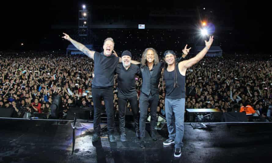 Metallica: James Hetfield, Lars Ulrich, Kirk Hammett, and Robert Trujillo