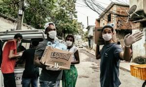 Food distribution in City of God favela