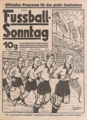 """The programme for the so-called """"reconciliation game"""" between Austria and Germany in Vienna in April 1938."""