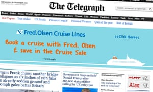 The Telegraph home page