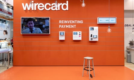 Stand of the financial services company Wirecard at a trade show