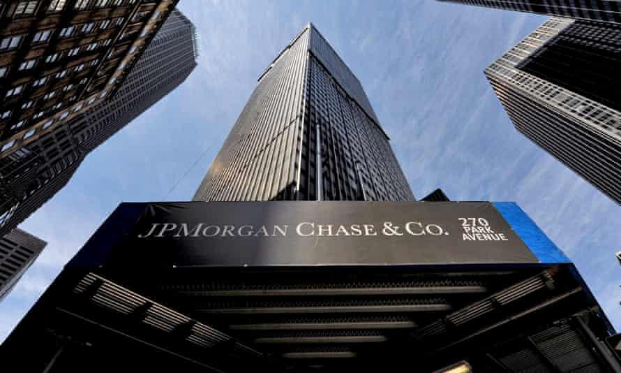 JP Morgan Chase logo on New York building