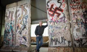 Hans-Martin Fleischer owns four original pieces of the Berlin Wall from Potsdamer Platz where the wall was opened on 12 November 1989.