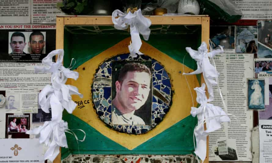 A memorial to Jean Charles de Menezes in Stockwell, south London